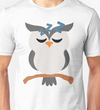 Night Owl Emoji Tired and Sleep Face Unisex T-Shirt