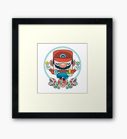 Mario: Destroyer of Obstacles Framed Print