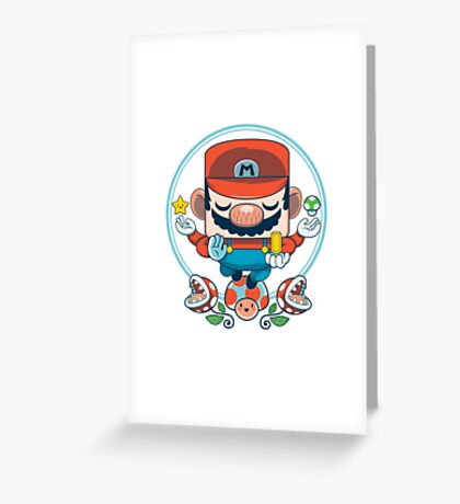 Mario: Destroyer of Obstacles Greeting Card