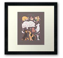 Dog Chart Framed Print