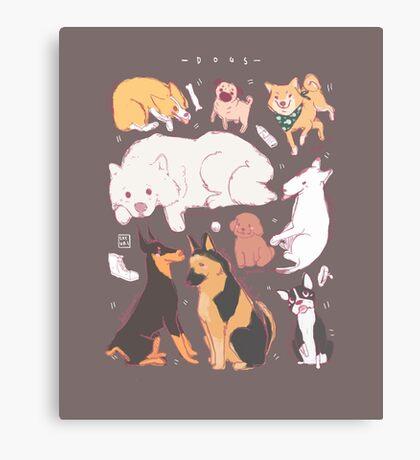 Dog Chart Canvas Print
