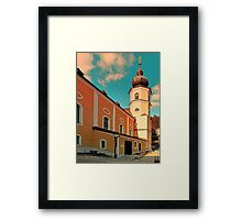 The village church of Helfenberg VII | architectural photography Framed Print