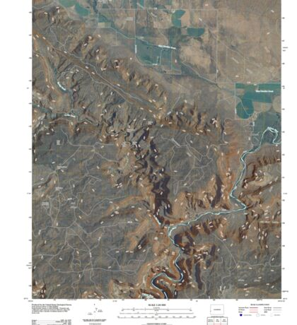 USGS TOPO Map Colorado CO Paradox 20110421 TM Sticker