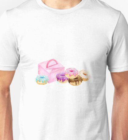 Watercolor donut gift box Unisex T-Shirt