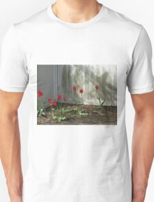 fence flowers Unisex T-Shirt