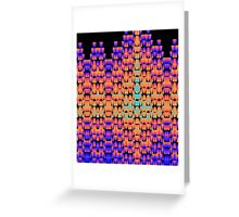 Glowing pattern in purple, orange and blue Greeting Card