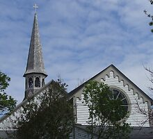 wickford, rhode island steeple church by Maureen Zaharie
