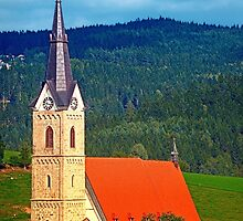 The village church of Reichenau I   architectural photography by Patrick Jobst