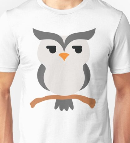 Night Owl Emoji Look Left and Right Face Unisex T-Shirt