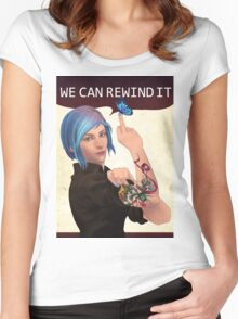 WE CAN REWIND IT Women's Fitted Scoop T-Shirt