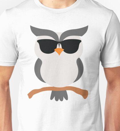 Night Owl Emoji Cool Sunglasses Face Unisex T-Shirt