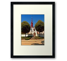 The cemetary church of Schlaegl III | architectural photography Framed Print