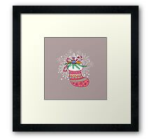 Xmas sock. Merry Christmas Framed Print