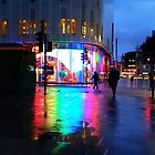 Leicester Square Rainbow Reflections by Vanessa  Warren