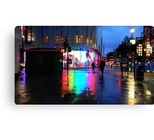 Leicester Square Rainbow Reflections Canvas Print