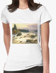 river rock Womens Fitted T-Shirt