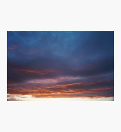 Dark sunset clouds Photographic Print