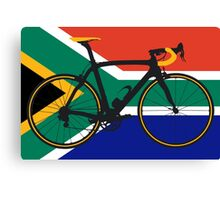 Bike Flag South Africa (Big - Highlight) Canvas Print