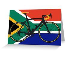 Bike Flag South Africa (Big - Highlight) Greeting Card