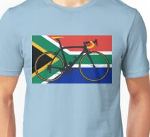 Bike Flag South Africa (Big - Highlight) Unisex T-Shirt