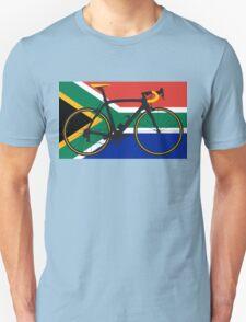 Bike Flag South Africa (Big - Highlight) T-Shirt
