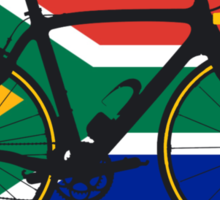 Bike Flag South Africa (Big - Highlight) Sticker