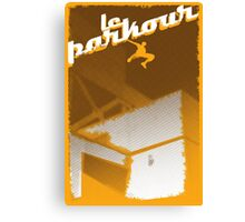 Parkour print Canvas Print