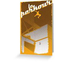 Parkour print Greeting Card