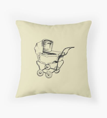 Baby Buggie Throw Pillow