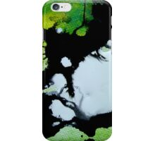 Challenger abstract art green black and white painting iPhone Case/Skin