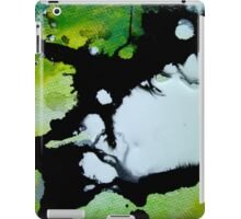 Challenger abstract art green black and white painting iPad Case/Skin