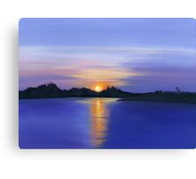 Sunset Across the River Canvas Print