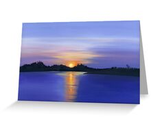 Sunset Across the River Greeting Card