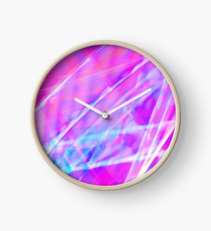 Abstract light painting Clock