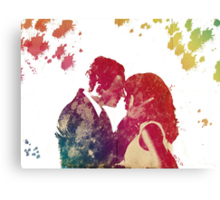 Fitz & Olivia - no background *laptop skins, and mugs added* Canvas Print