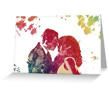 Fitz & Olivia - no background *laptop skins, and mugs added* Greeting Card