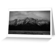 Snow top mountains Greeting Card