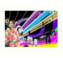 Family Dinner and Fun time Art Print