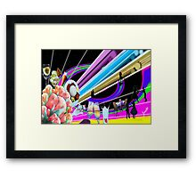 Family Dinner and Fun time Framed Print