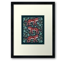 Safari Tiger by Andrea Lauren  Framed Print
