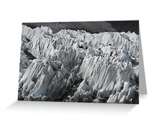 Ice Pinnacles at Everest Base Camp washed white with summer rain Greeting Card