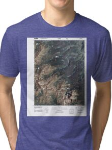 USGS TOPO Map Colorado CO Willow Lakes 20110503 TM Tri-blend T-Shirt