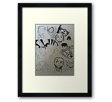 Characters. Framed Print