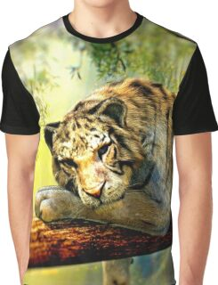Lazy Tiger Graphic T-Shirt