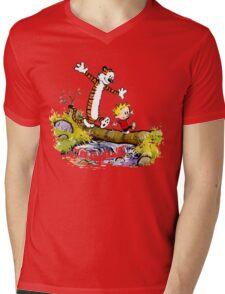 Calvin Hobbes Mens V-Neck T-Shirt
