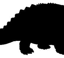 Ankylosaurus Silhouette by kwg2200