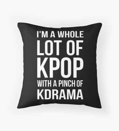 A LOT OF KPOP - BLACK Throw Pillow
