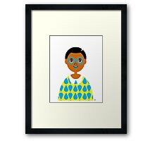 Girl 3 - Goggles and Raindrops Framed Print