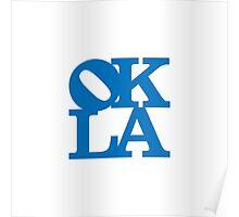 OKLA (Blue)-small Poster