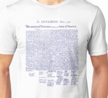 1776 American Declaration of Independence Unisex T-Shirt
